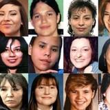 Rostros de indígenas desaparecidas y asesinadas en Canadá.