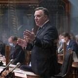 François Legault prend la parole à l'Assemblée nationale.