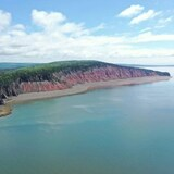 Le littoral de la baie de Fundy.
