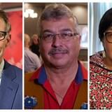 Un montage des trois candidats.