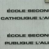 Enseigne de l'école secondaire l'Alliance à Iroquois Falls.