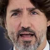Un gros plan de Justin Trudeau.