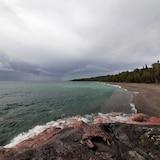 Le lac Supérieur lors d'une journée d'octobre orageuse.