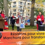 نساء  ياحدّثن في مسيرة النساء العالميّة,