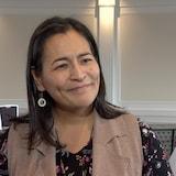 Michèle Audette en entrevue à Saskatoon.