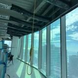 Un noeud coulant dans un immeuble en construction
