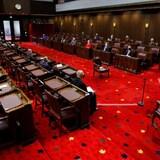 La Cámara del Senado en el Parlamento de Ottawa.