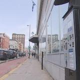 Un parcomètre sur la rue Notre-Dame centre à Trois-Rivières
