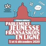 Affiche du Parlement jeunesse fransaskois.