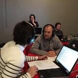Norm Letnick en entrevue avec Marie Villeneuve, à Phare Ouest