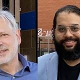 Victor Armony (à gauche) et Mauricio Peña se présentent comme candidats dans le secteur Snowdon aux élections municipales de Montréal le 7 novembre. D'origines et de parcours divers, tous deux aspirent à représenter dignement la population pluriculturelle de leur quartier.