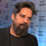 Robin Aubert réagit après la victoire de son long métrage « Les Affamé », sacré meilleur film au Gala Québec Cinéma, le 3 juin 2018.