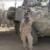 Abdul Hakim Azizi is seen during one of the missions when he helped the Canadian Forces.