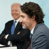Justin Trudeau and Joe Biden at G7 Summit .