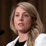 Mélanie Joly speaks to reporters shortly after being sworn in as Canada's foreign affairs minister.