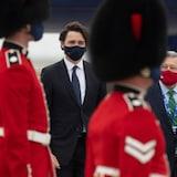 2021年6月10日:加拿大总理贾斯汀·特鲁多(Justin Trudeau)抵达英国,出席 G7 峰会。