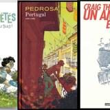 Trois couvertures de bandes dessinées