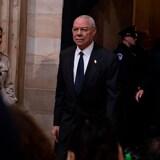 Colin Powell arrive pour rendre hommage à la dépouille de l'ancien président américain le 4 décembre 2018 à Washington, DC.