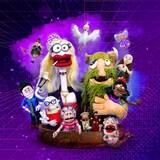 Un groupe de marionnettes colorés, juste à côté des mots, LA DUMP