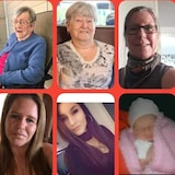 Six générations de femmes vivantes d'une même famille