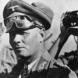 Le maréchal Rommel, à gauche, et le captaine Aldinger, à droite.