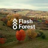 Photo d'un drone survolant une zone boisée.