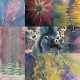 Une sélection de tableaux figuratifs et abstraits par l'artiste-peintre Charlotte Greenwood.