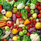 Une photo prise d'un assemblage de fruits et de légumes frais.