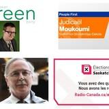 de 3 candidats de partis politiques provinciaux