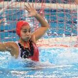 La gardienne canadienne Jessica Gaudreault dans l'eau.