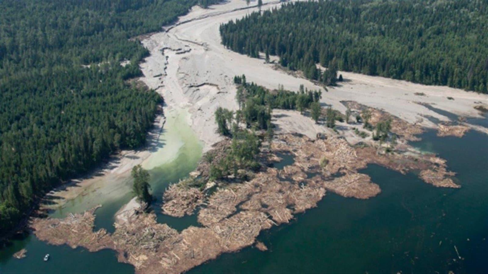 Le déversement d'eaux usées en août 2014 de la mine du Mount Polley en Colombie-Britannique