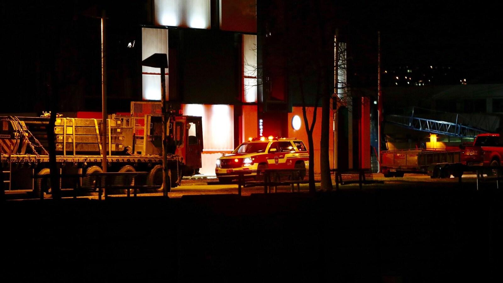 L'incident est survenu près du bassin Louise, dans le Port de Québec.