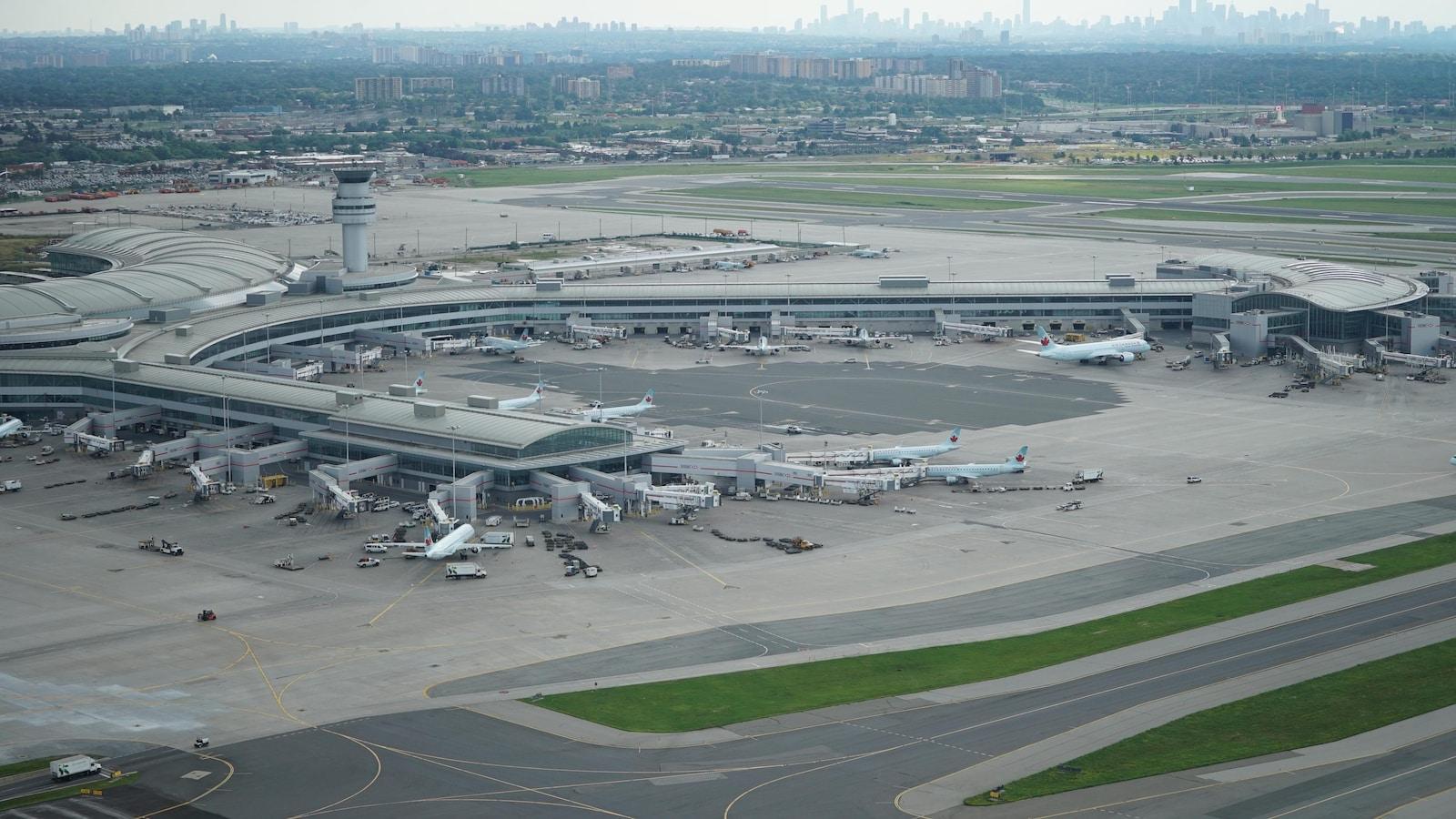 aéroport pearson vue des airs