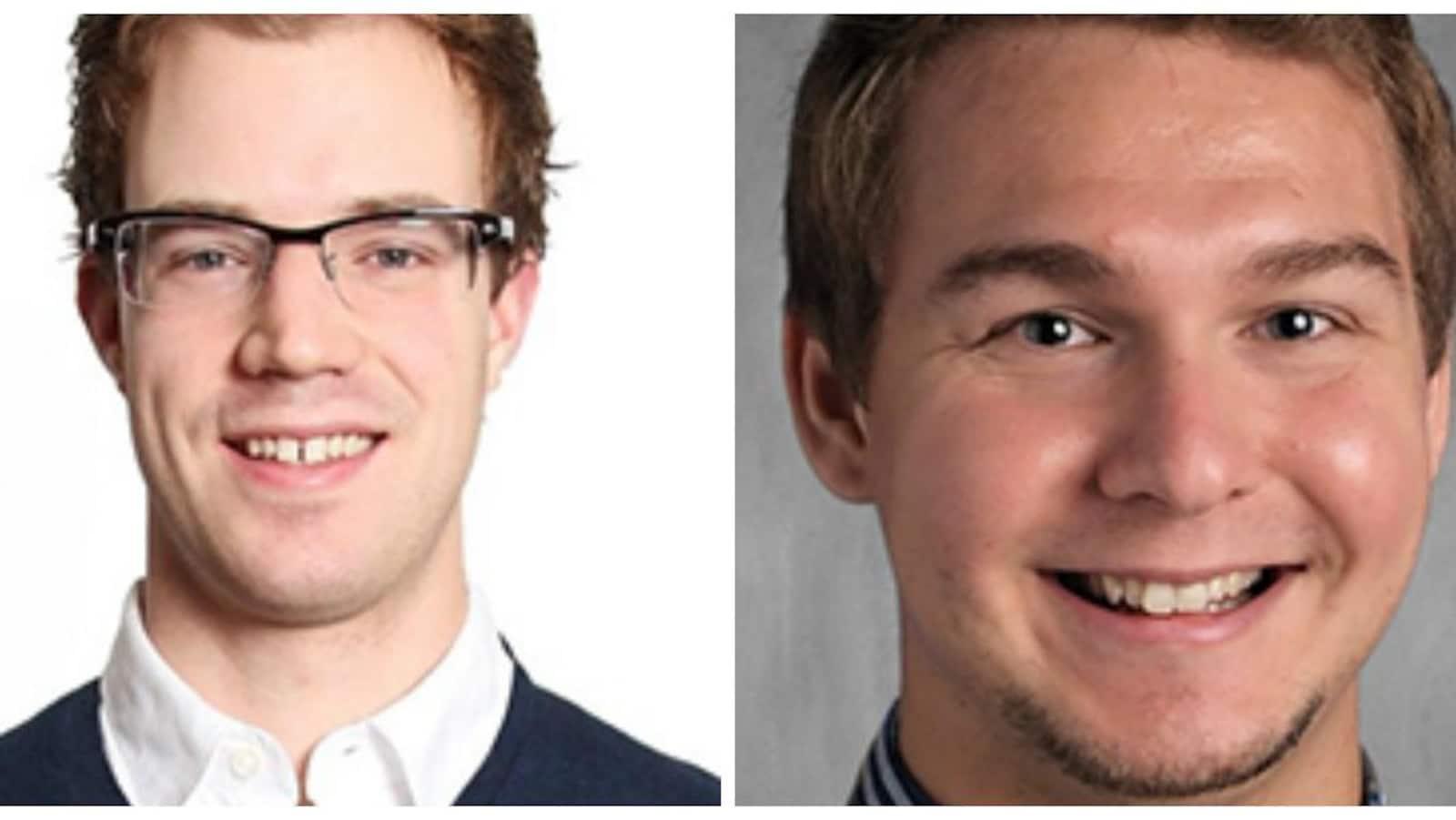 Montage de deux photos en gros plan des candidats, collées l'une à côté de l'autre.
