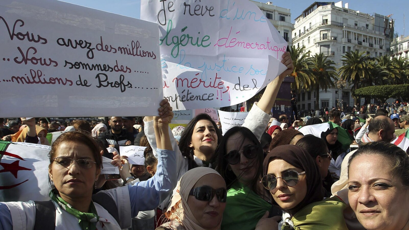 Manifestation d'enseignants à Alger