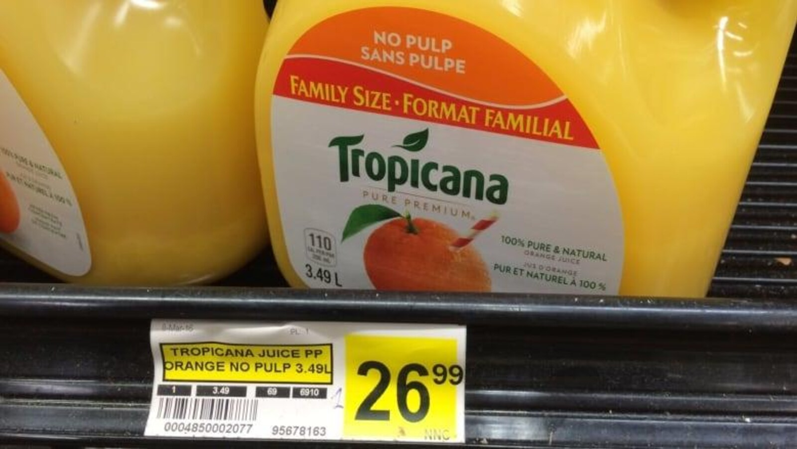 Le jus d'orange devient un produit de luxe au Nunatsiavut