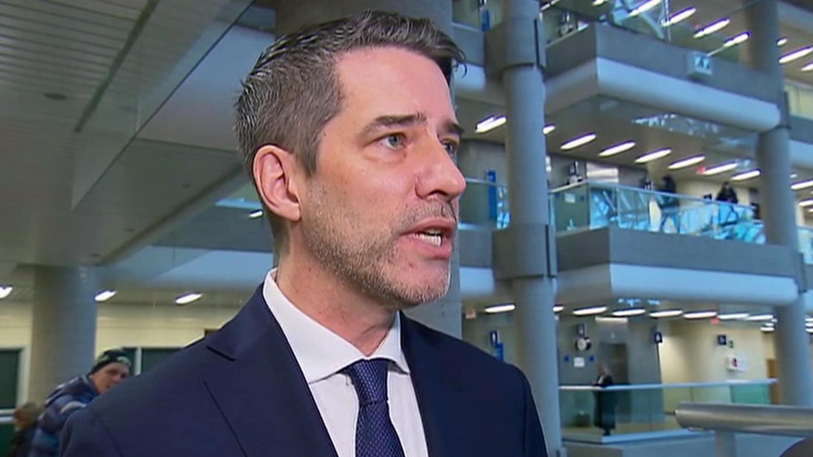 L'ex-politicien André Boisclair au palais de justice de Québec