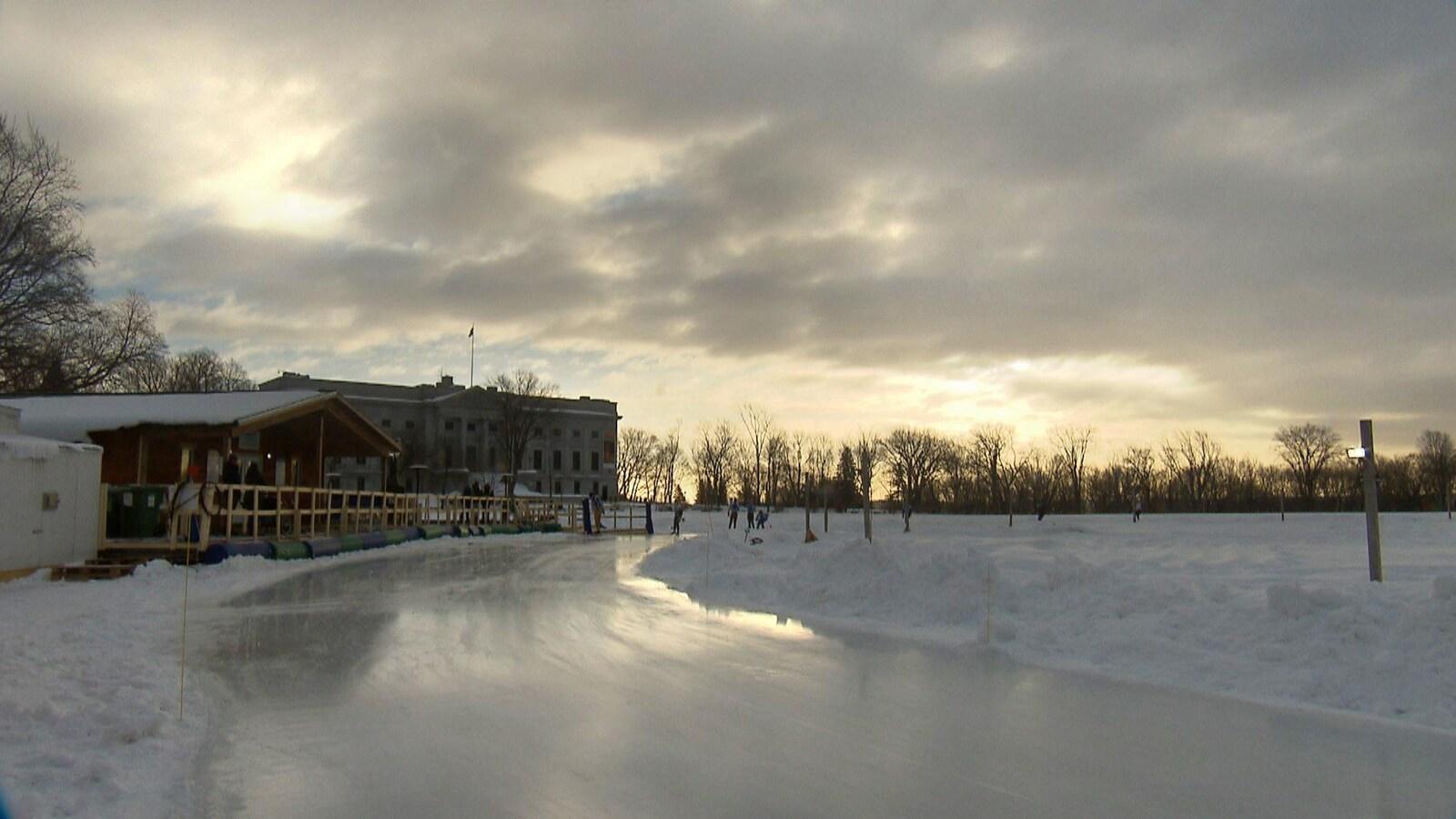 L'anneau de glace des Plaines, le 18 décembre 2018.