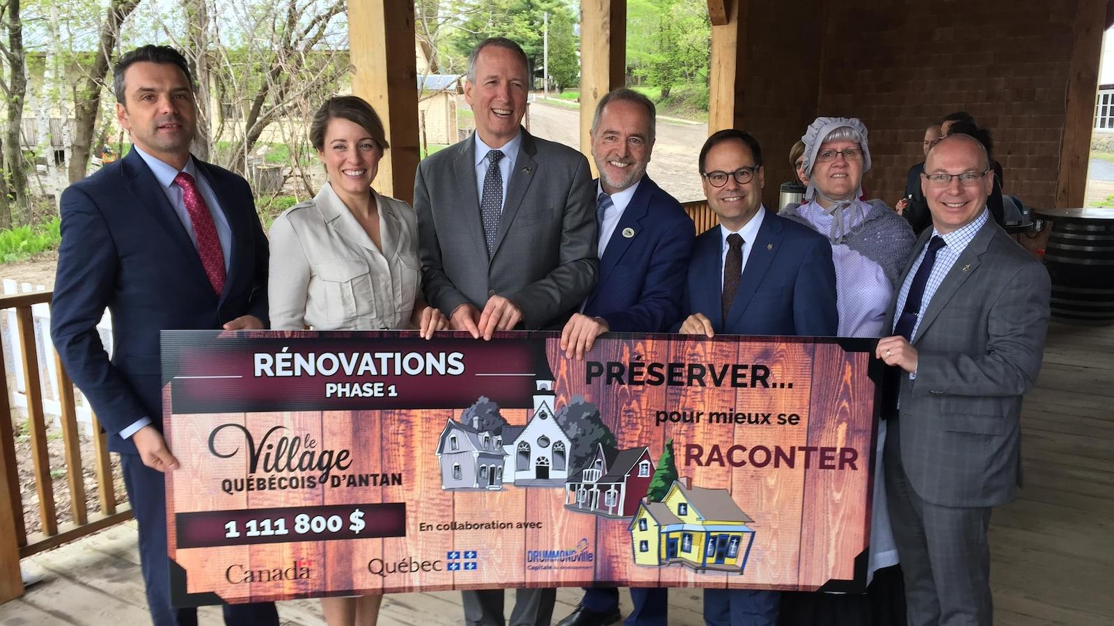 1,1 million de dollars seront investis au Village québécois d'Antan.