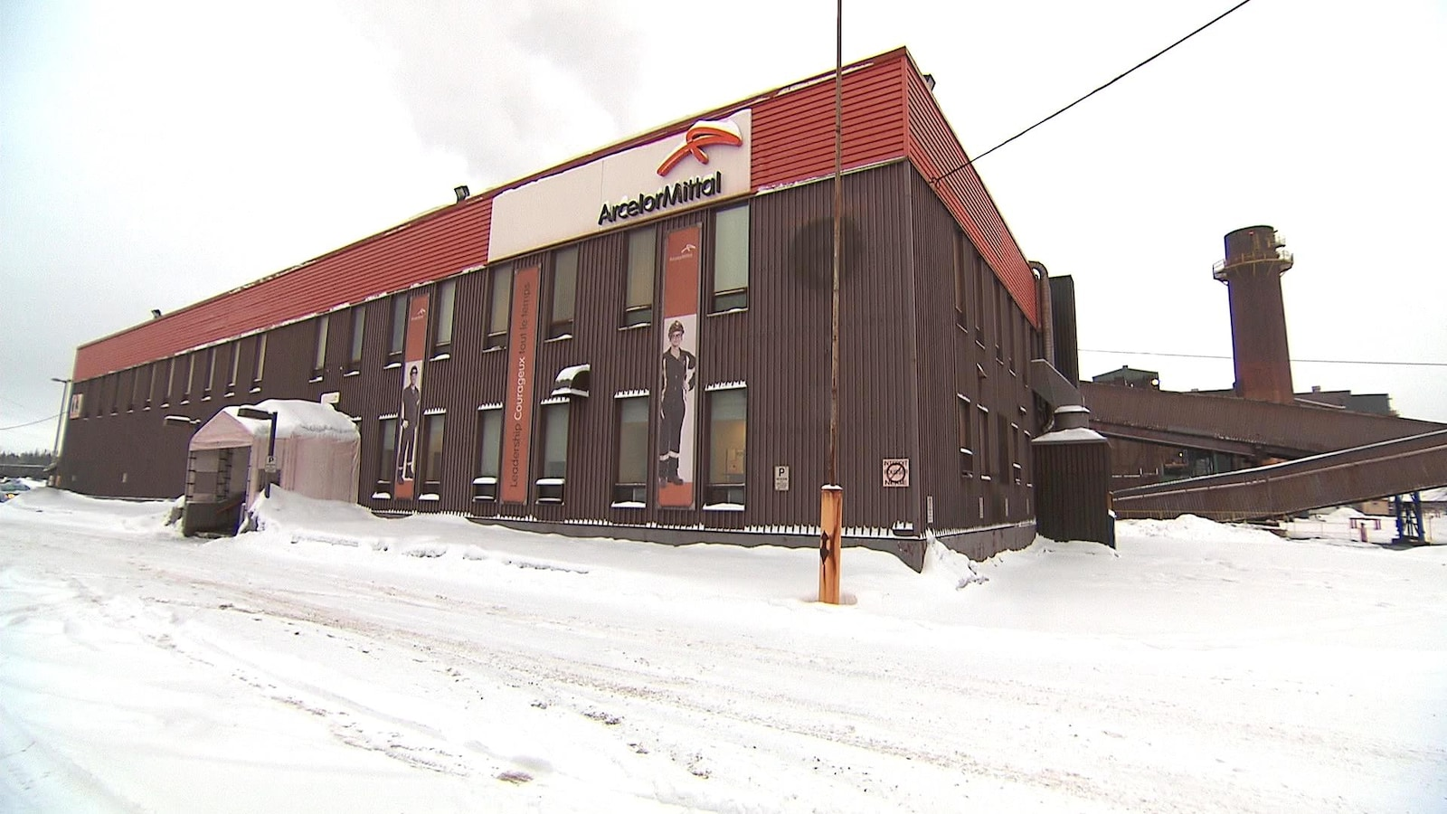 Un atelier d'ArcelorMittal à Port-Cartier.