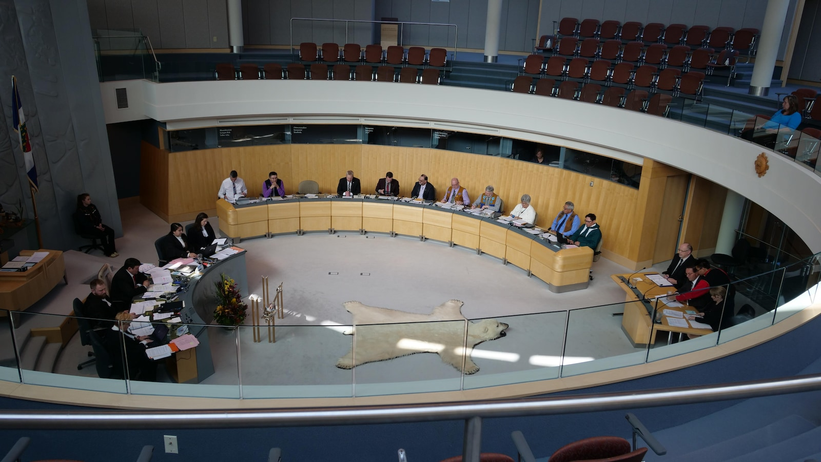 La chambre de l'Assemblée législative des Territoires du Nord-Ouest