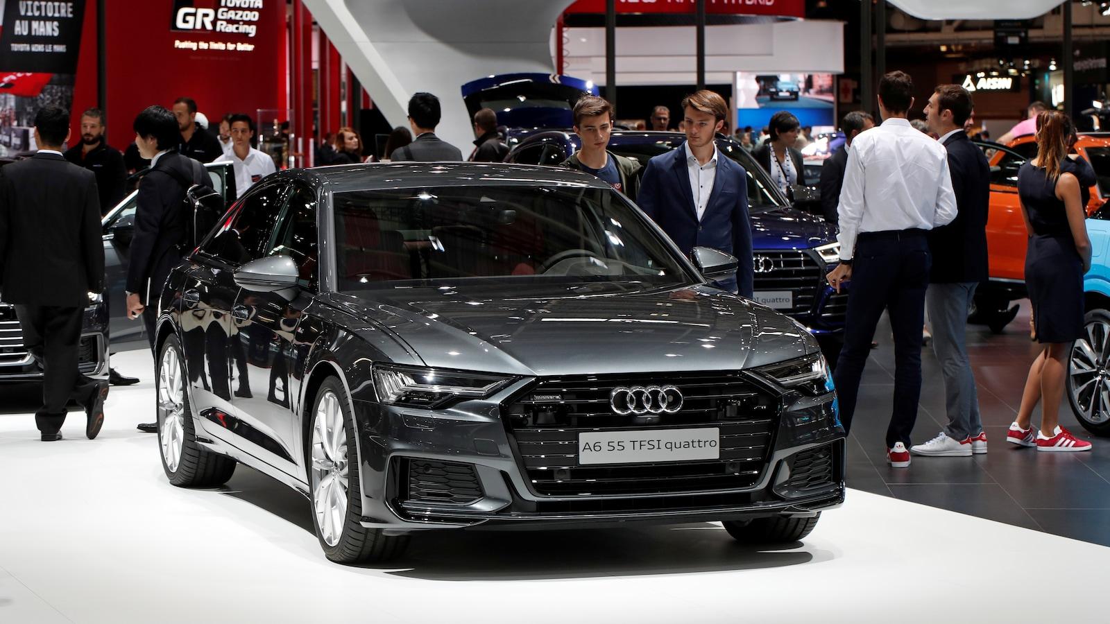 Une Audi A6 en démonstration.