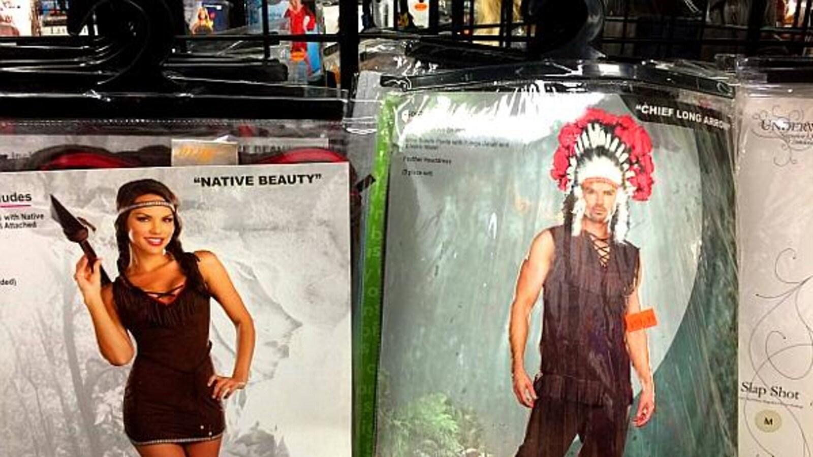 Des costumes d'Halloween illustrant l'appropriation culturelle, fort différente de l'échange culturel.