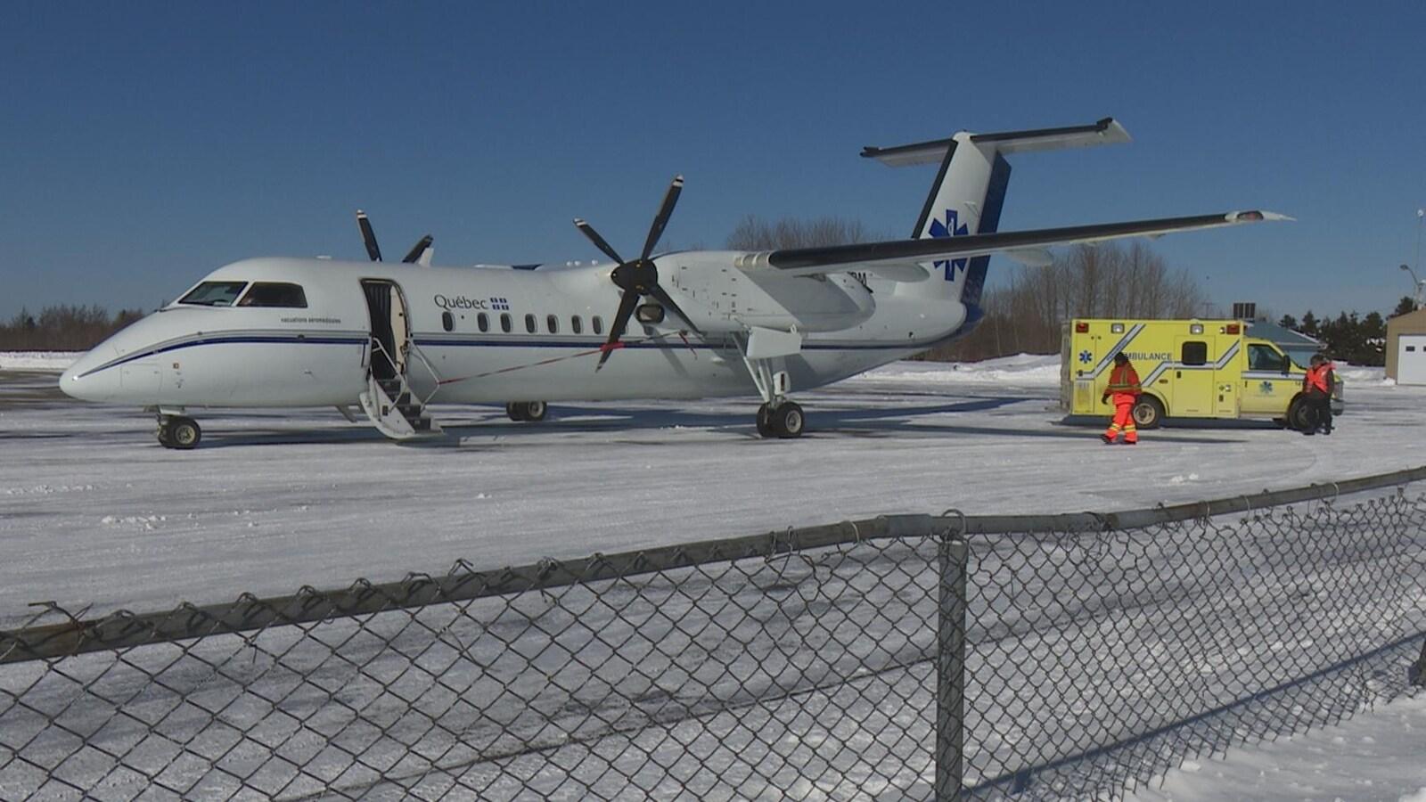Un avion-ambulance du gouvernement du Québec