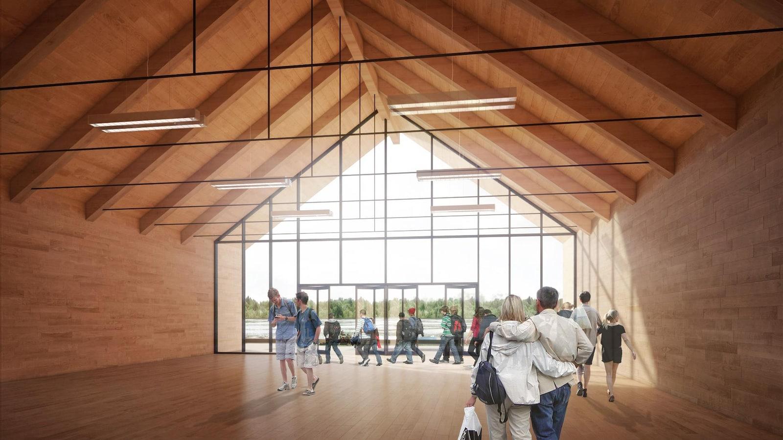 Un aperçu du nouveau pavillon de la Base de plein air de Sainte-Foy.