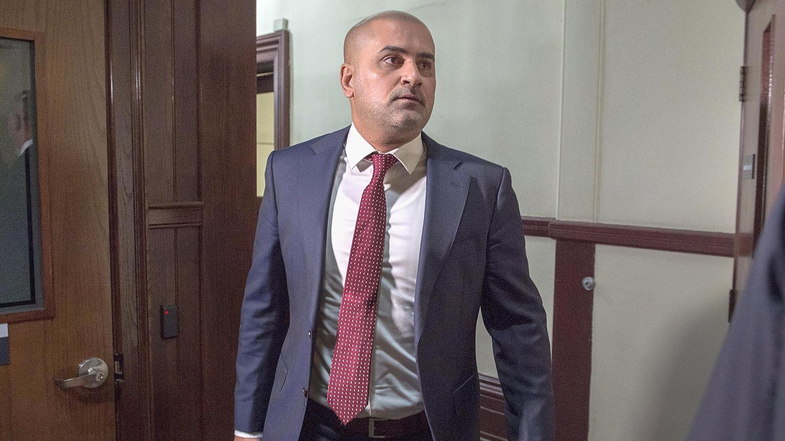 Bassam Al-Rawi arrive en cour provinciale à Halifax le 7 janvier 2019.