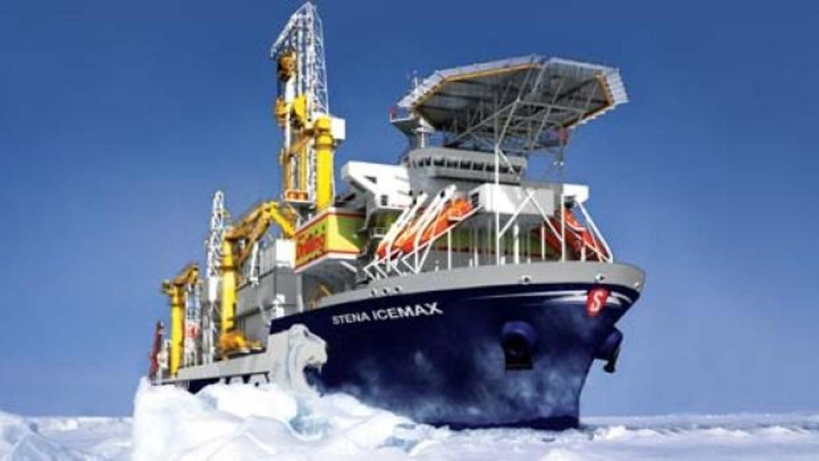 Un navire de prospection pétrolière