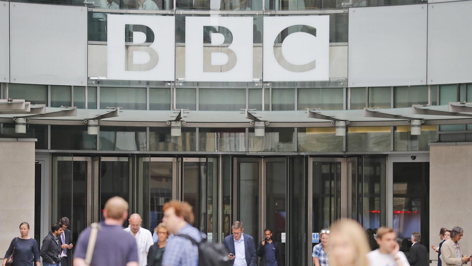Le siège social de la BBC à Londres.