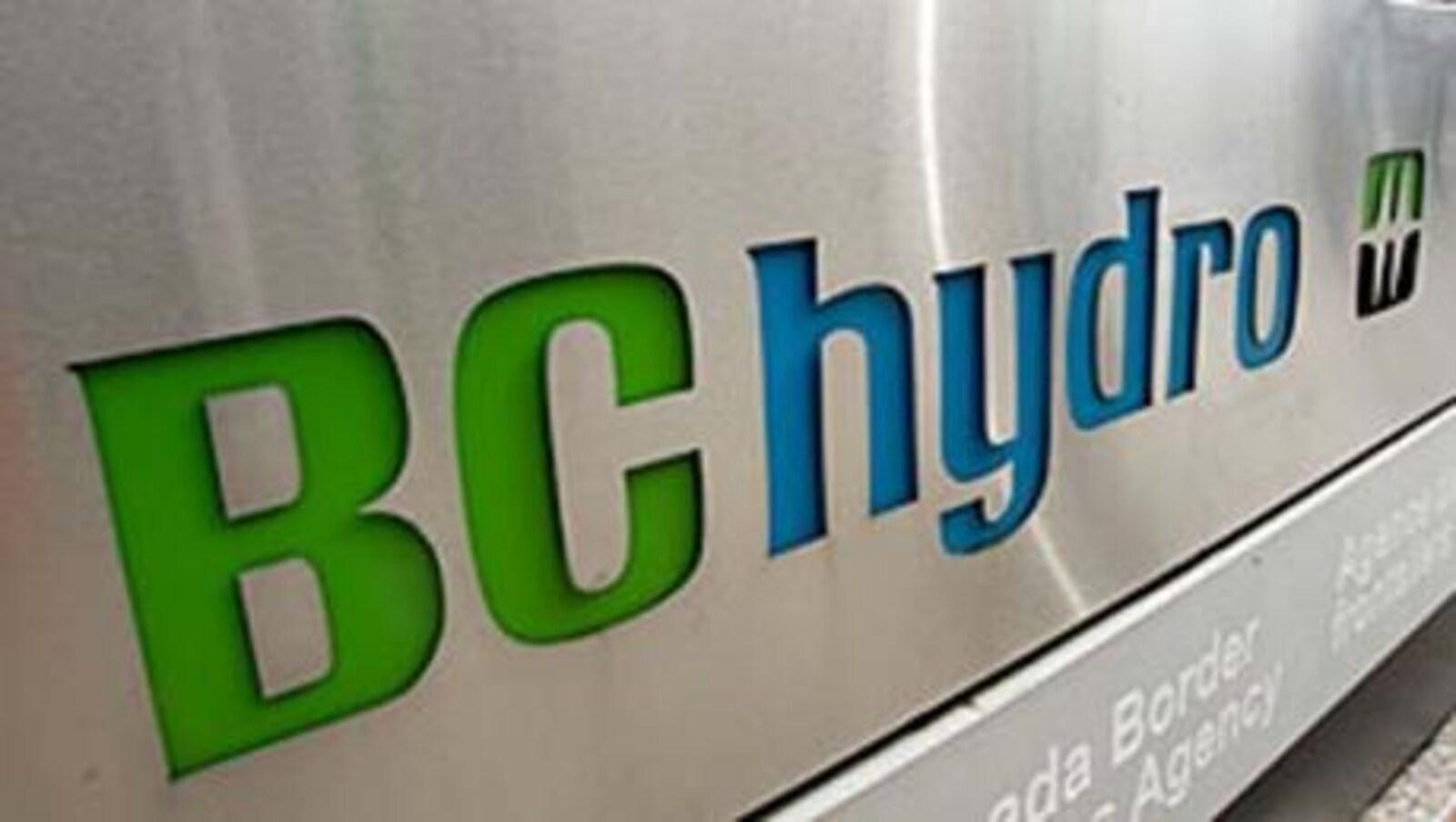 Le logo de la société d'État BC Hydro.