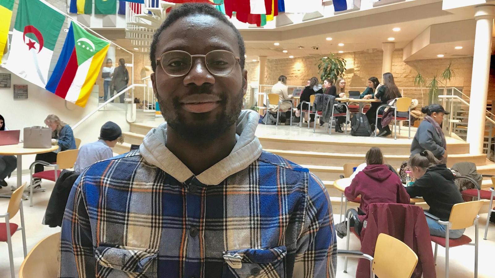 Cheikh Ousmane Ben Youssouf Marega, président de l'Association étudiante de l'USB.